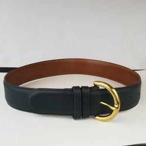 Coach Navy Belt